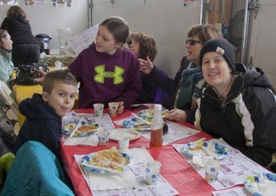 eating pancakes, group 2